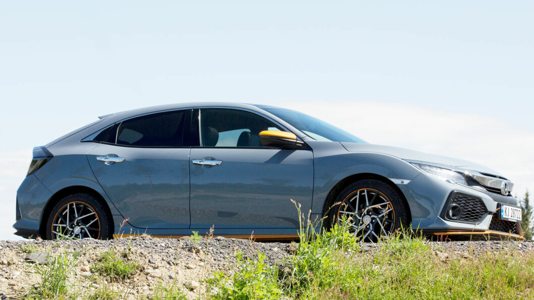 STOR: Nye Civic er større enn alle andre biler i klassen. Den tåler nesten karakteristikken «familiebil».