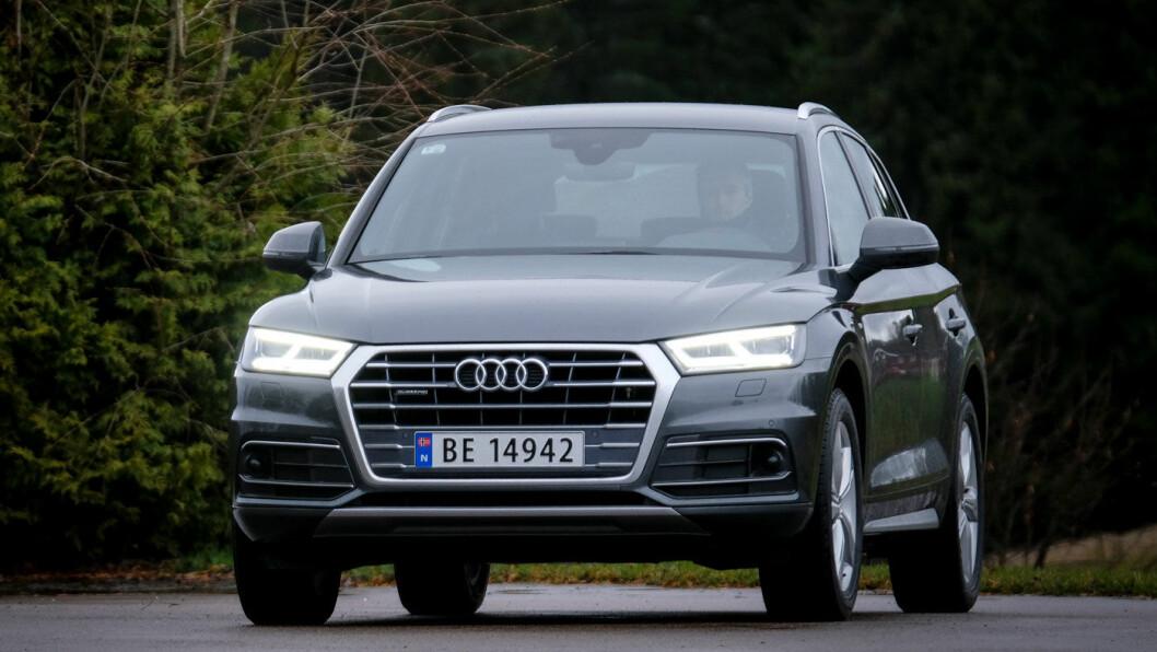 SPORTY: Både kjørekomforten og kjøreegenskapene i kritiske situasjoner er i toppklasse på Audi Q5. Foto: Jon Terje Hellgren Hansen