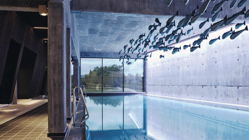 FANTASTISK VELVÆREANLEGG: Noe av det fineste vi har sett, og med bassenger både ute og inne. Foto: Tom Gustavsen
