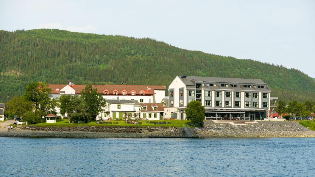 GAMMELT OG NYTT: Mosjøen ble ikke utsatt for luftangrep under krigen, og den gamle delen av hotellet står godt side om side med det nye tilbygget.