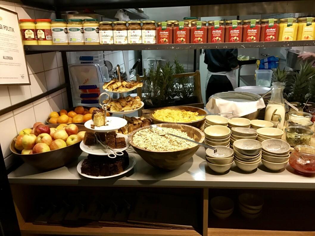 LEKKERT: Frokosten er et av høydepunktene på Hotell SP34.