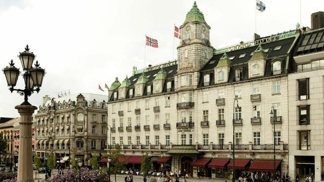 SKUFFELSE: Grand Hotell i Oslo ligger staselig til på Karl Johans gate, men er en skuffende opplevelse.
