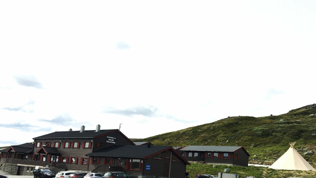 HALNE FJELLSTOVA: Fjellstua ligger på Hardangervidda rett ved grensen mellom Hordaland og Buskerud.