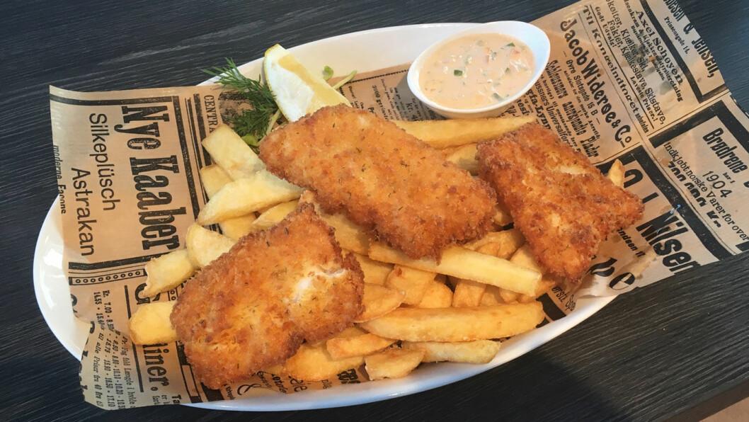 FAVORITT: Fish'n chips
