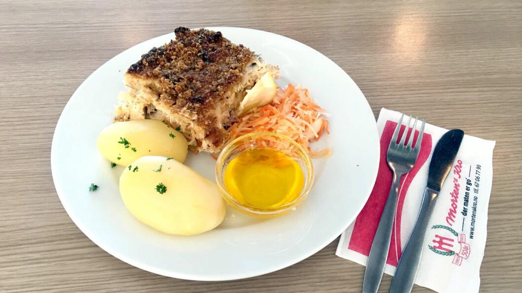 HJEMMELAGET: Alt er hjemmelaget, også fiskegratengen med rød og hvit fisk.