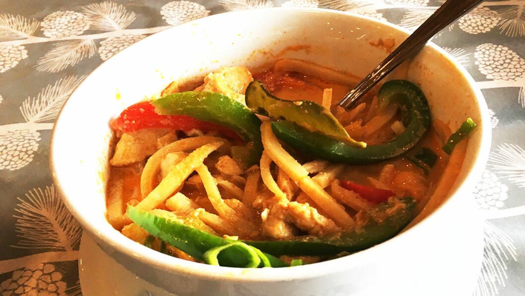 THAI-VEIMAT: Hjemmelaget, thailandsk curry.