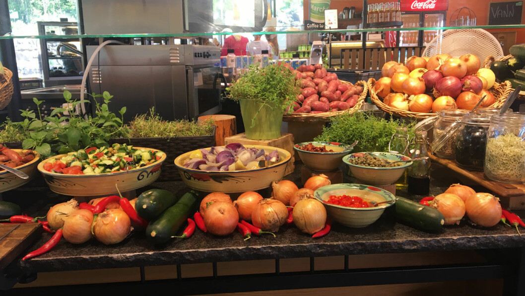 FRISKT OG FRISTENDE: Blandede salater og friske grønnsaker gjør det lett å velge sunt.