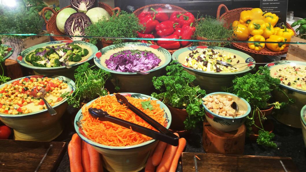 FARGER: Mat med farge er fint, sunt, godt og ser lekkert ut. Her har Marché-kjeden virkelig banet vei, selv om kvaliteten på kjederestaurantene varierer.