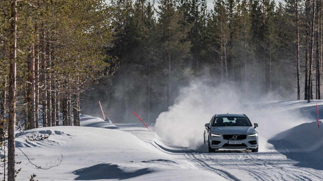 NY HJEMMEBANE: Etter flere år i finske Ivalo kjøres årets store vinterdekktest mellom svenske furuer og meterhøye snøskavler i Arvidsjaur nord i Sverige.