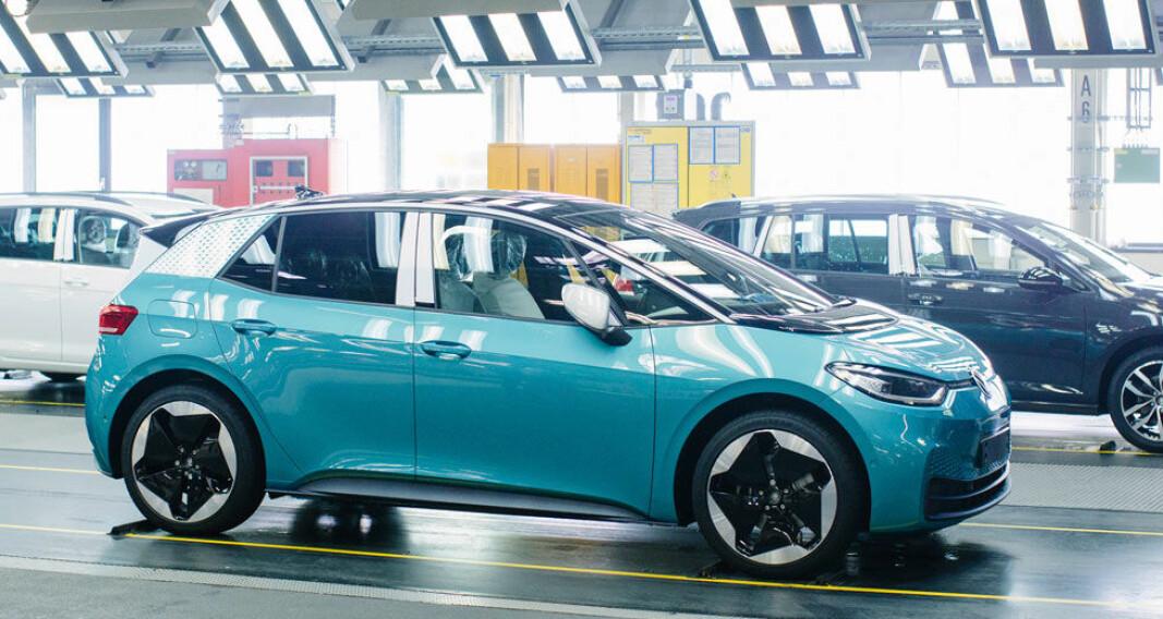 STORSELGER: ID.3 skulle være den nye Golfen for Volkswagen og det er alt levert 5150 stykker i Norge. Men nå faller registreringstallene.