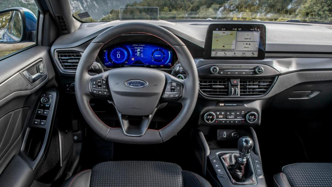 NY SKJERM: 12,3 tommers infoskjerm kommer som standard på nye Ford Focus Ecoboost.