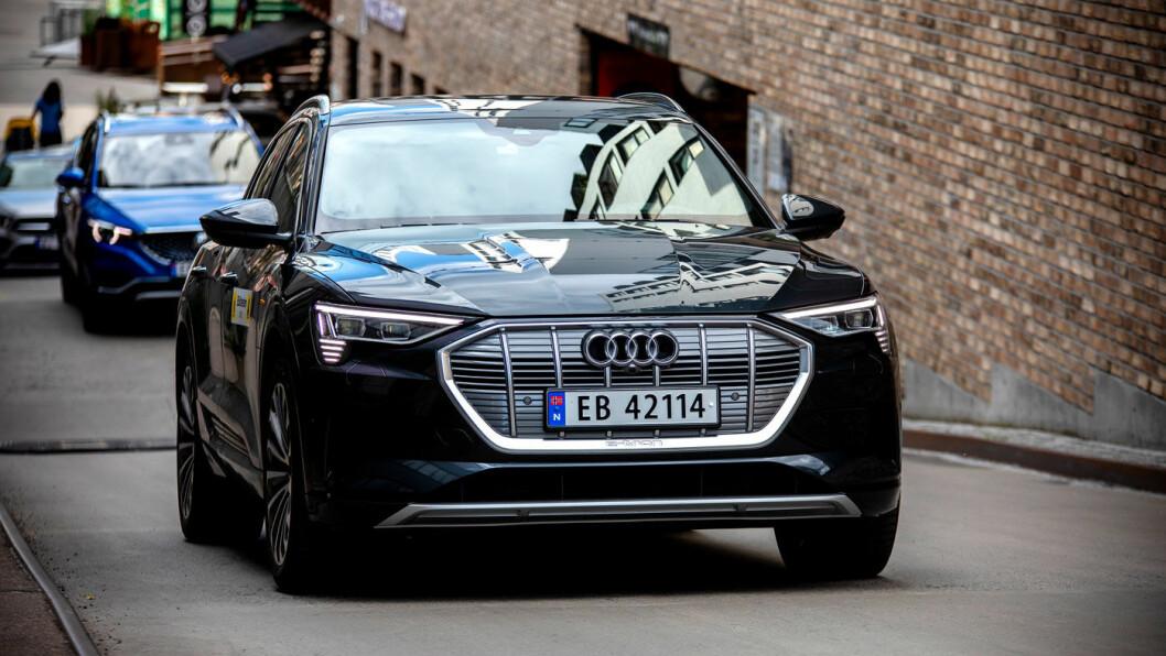 YTTERLIGERE NED: Populære Audi e-tron går ned rundt 30.000 kroner i pris.