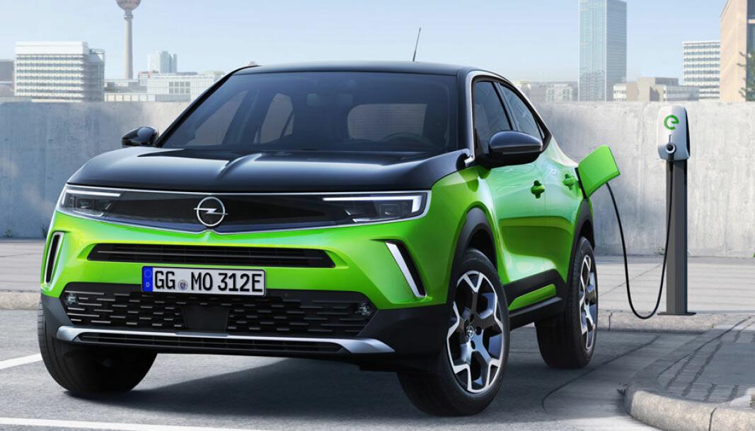 UTSOLGT FOR 2021: Opel Mokka-e utgjør en kraftig fornyelse for merket Opel, og kundene står i kø.