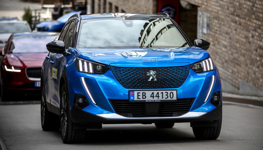 <b>NORSK MATCH: </b>Peugeots nye e-2008 treffer godt på norske bilkjøperes preferanser.