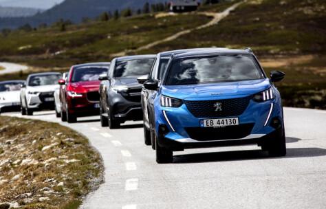Fra 296 km i vinter til 512 km i sommer med samme bil