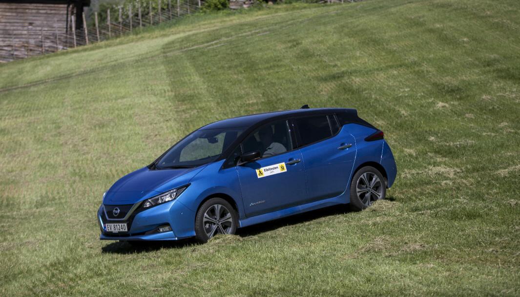 LADER KJAPPERE: Nissan Leaf 62 kWt
