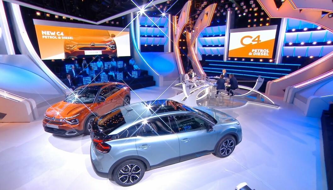 <b>LIVE FRA PARIS:</b> Citroën viste sin nye elbil tirsdag, her er både bensin og el-utgaven av C4.