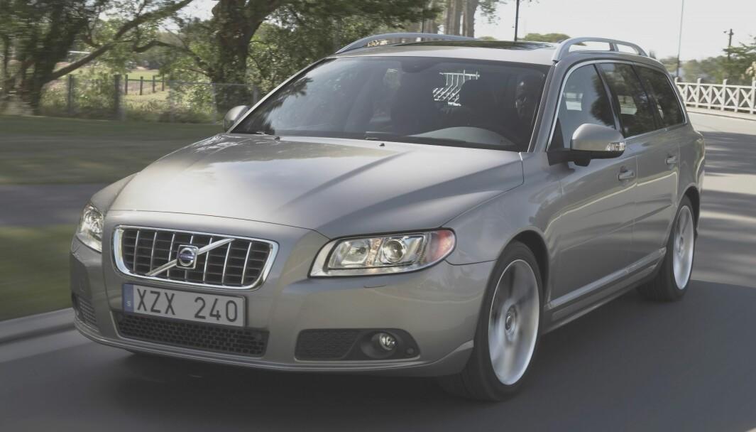 <b>BELTETRØBBEL</b>: Denne V70-modellen er blant Volvoene som kalles tilbake.