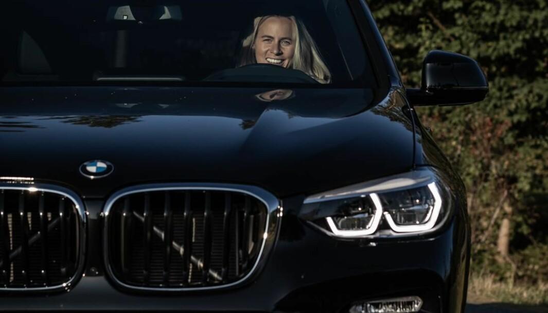 HAISOMMER: Tiril Eckhoff kjører BMW, men en VW Polo var første bil