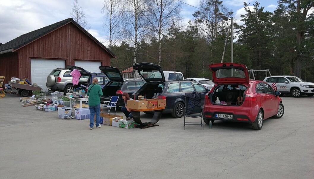 <b>JUNK IN THE TRUNK</b>: Bagasjeromsmarked er tingen – særlig for deg som har for mye liggende i bilen.