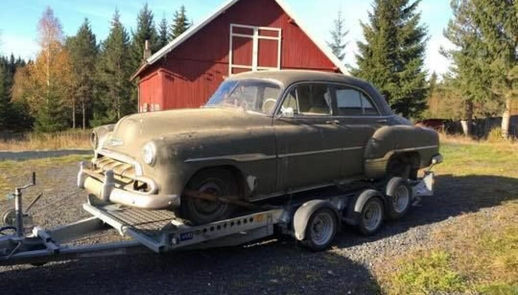SNART SOM NY: Etter 40 år på låven har Fredrik Nordal gitt Chevroleten nytt liv.