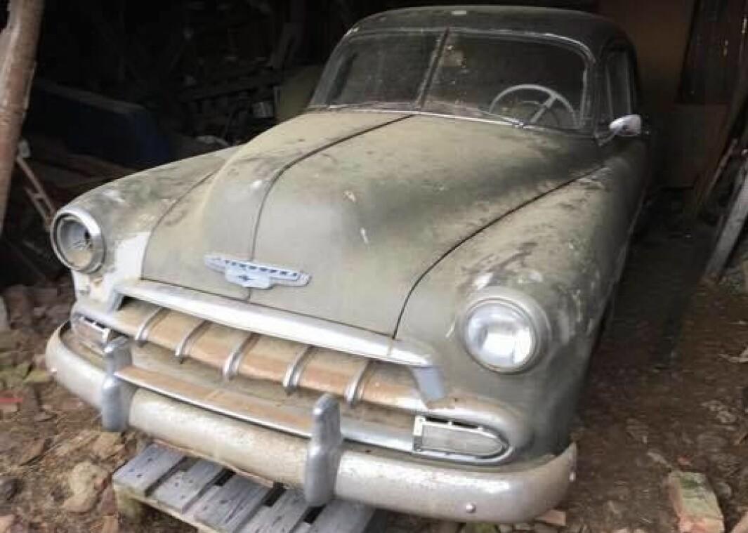 <b>LITT LUGGOM</b>: Bilen fikk Hamar-skilter i 1955.