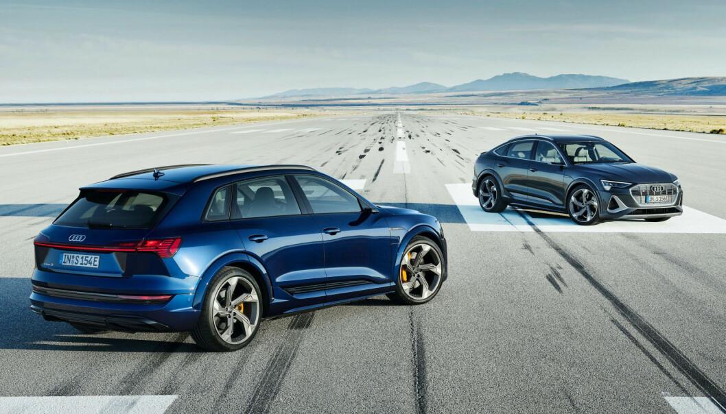 PRODUKSJONSKLARE: Vi kjørte prototypen i vinter - nå er Audi e-tron S offisielt avduket.