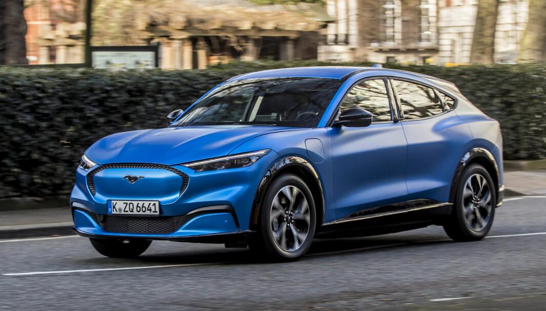 I SALG I USA: Ford tar nå imot endelig bestilling fra amerikanske kjøpere av Mustang Mach-e.