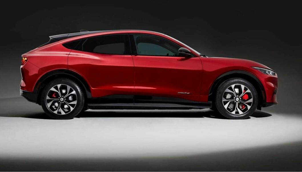 <b>KAN BESTILLES</b>: Ford Mustang Mach-e. Men får du angrerett? Ford kan ikke svare klart.