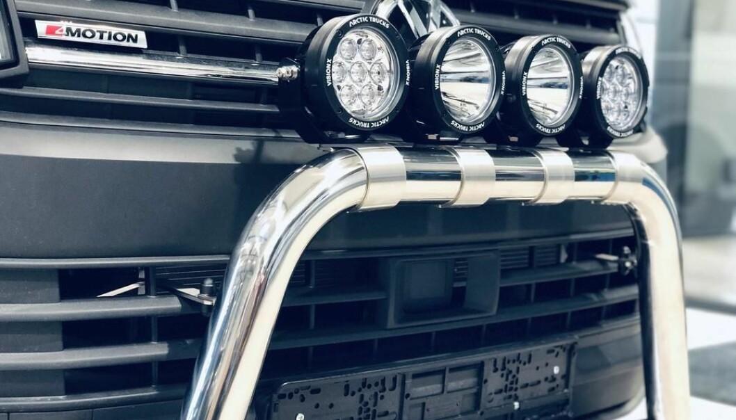 <b>3. «Kufangere»</b>. Frontbøyler beskytter bilen der vanlig vei opphører.