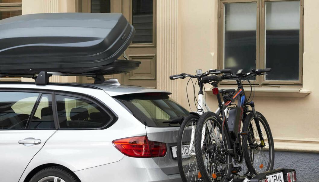 <b>4. Sykkelholdere/skistativ. </b>Interessen for aktiv fritid er økende, og folk vil at det skal synes på bilen. Sykkel er en utmerket «rekkeviddeforlenger» som gir god samvittighet til folk som ellers sitter en del i bil.