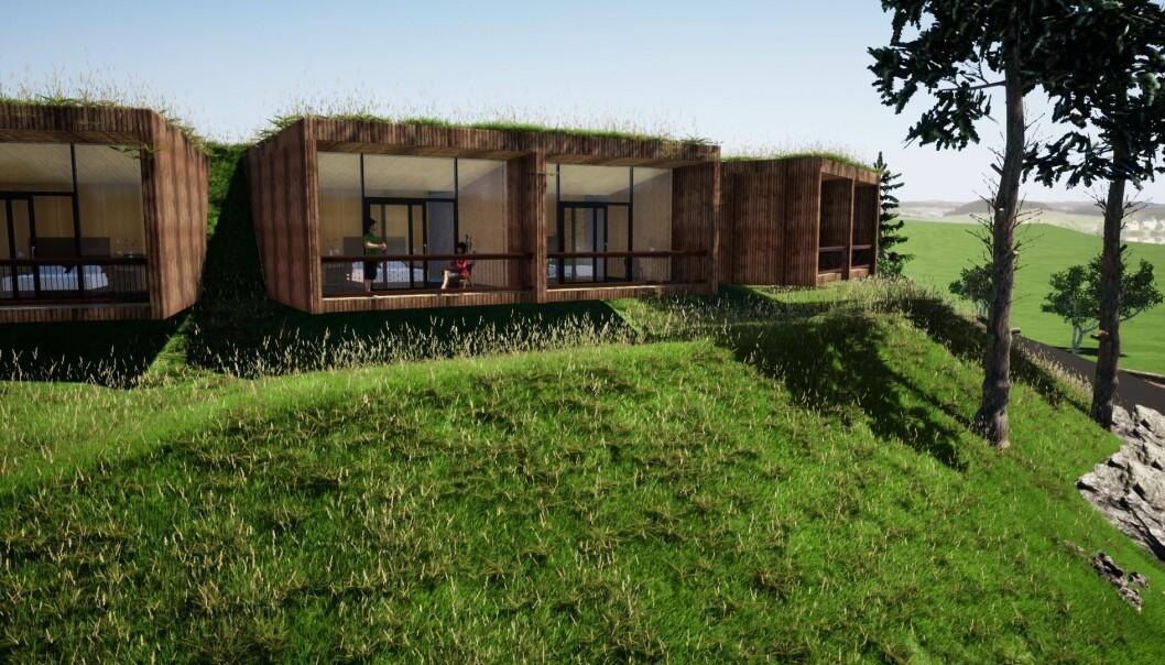 <b>UTSIKT TIL ALLE KANTER:</b> Øyna kulturlandskapshotell er spektakulært – på en diskret måte. Hotellet er tegnet av Joakim Dørum i firmaet Green Advisors på Melhus.