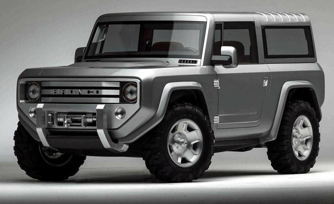 RØFF STIL: Den nye Bronco, som skal vises den 13. juli, kan komme til å få noen fellestrekk med denne konseptbilen fra 2004.