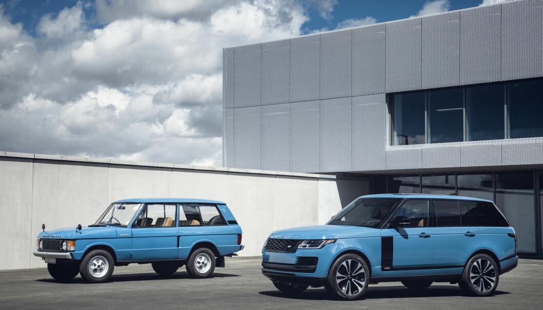 <b>GAMMEL OG NY:</b> Range Rover av 1970-årgang og dagens modell, kalt «fifty» i anledning 50-årsjubileet.
