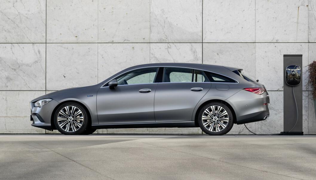 LADBAR: CLA Shooting Brake er den mest elegante av de nye ladbare modellene fra Mercedes.