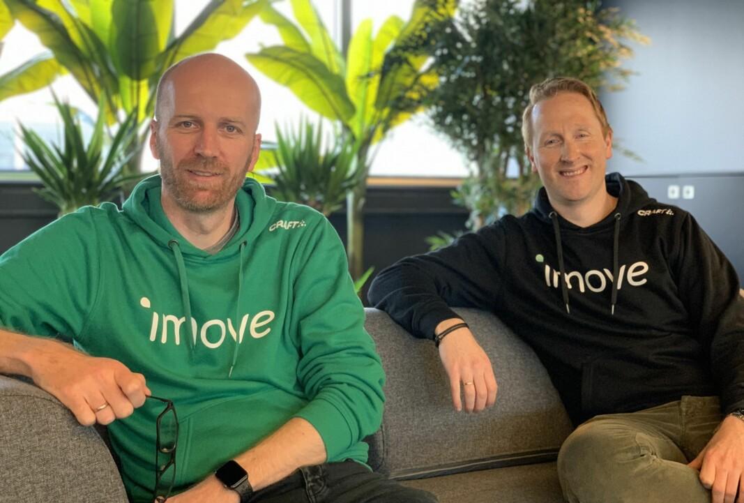 <b>MOBILITETSGRÜNDERE: </b>Gunnar Birkenfeldt og Hans Kristian Aas startet imove høsten 2018.