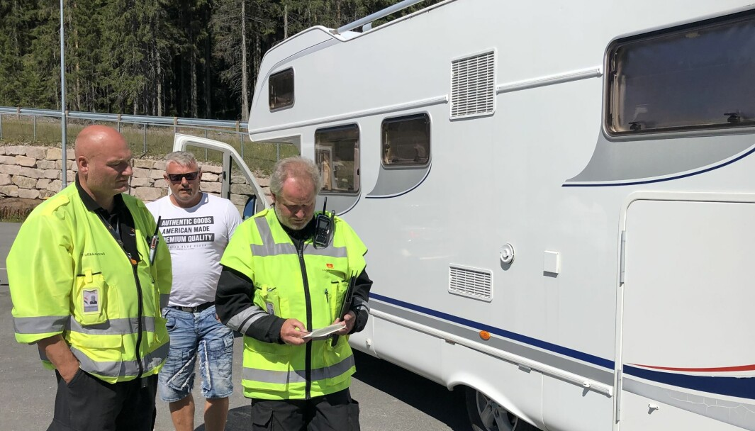 OVERLAST: Svein Ronny Haga hadde overlast på bobilen sin da vegvesenets kontrollører stanset han.