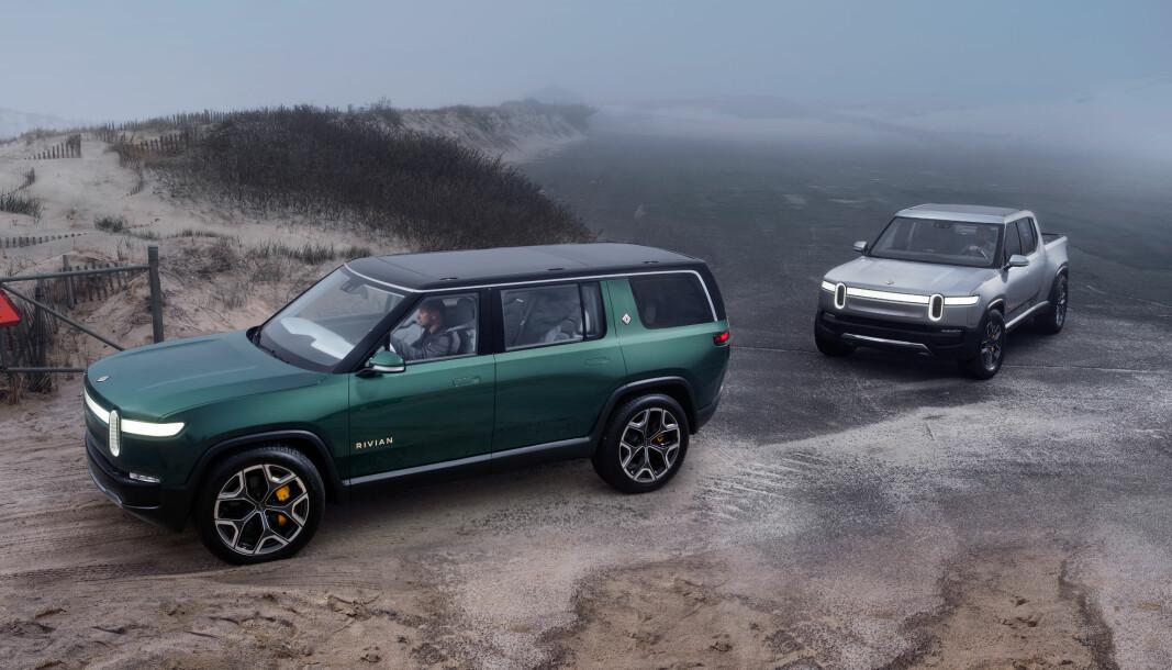 <b>OPPSTARTEN: </b>Rivian skal produsere SUV-en R1S og Pickup-en R1T fra neste sommer.