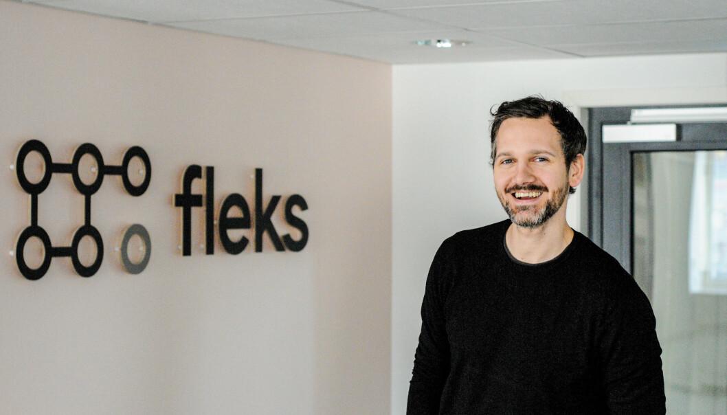 <b>STOR PÅGANG:</b> – Over 400 Fleks-kunder, det er en dobling siden mars, forteller Petter Kjøs Utengen, daglig leder i Fleks.