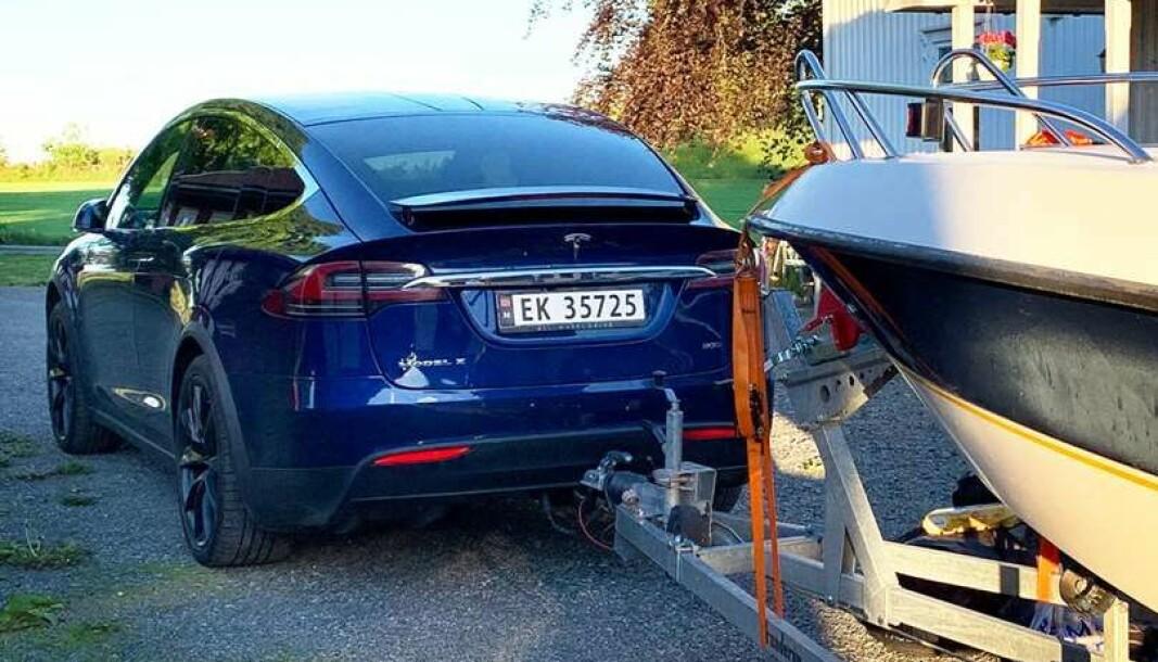 <b>DRØMME-KOMBO:</b> Tesla Model X ble i 2015 første elbil på markedet med mulighet til å trekke tilhenger.