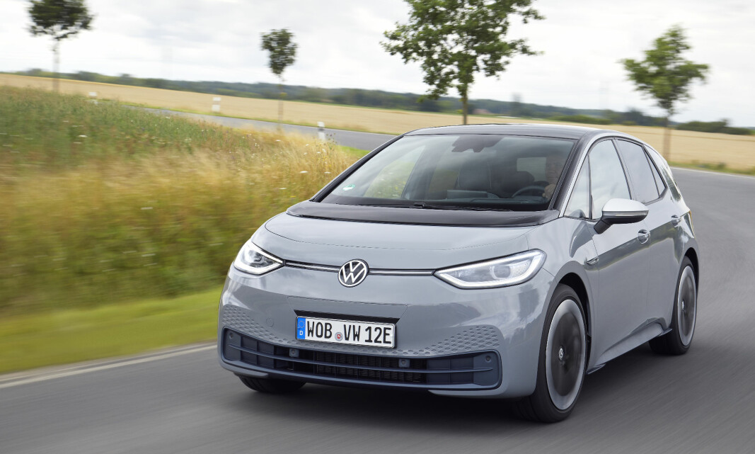 BOM STILLE: VW ID.3 har hatt problemer med 12-voltsbatteriet som lades ut.