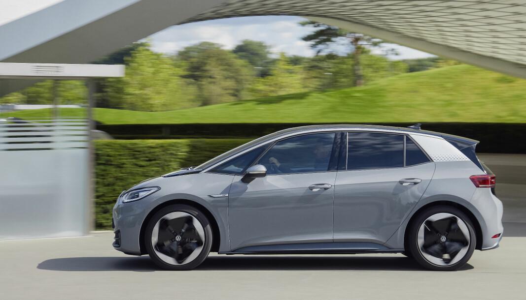VINNERBIL: VW ID.3 har hatt noen startproblemer, men er pop i Danmark.