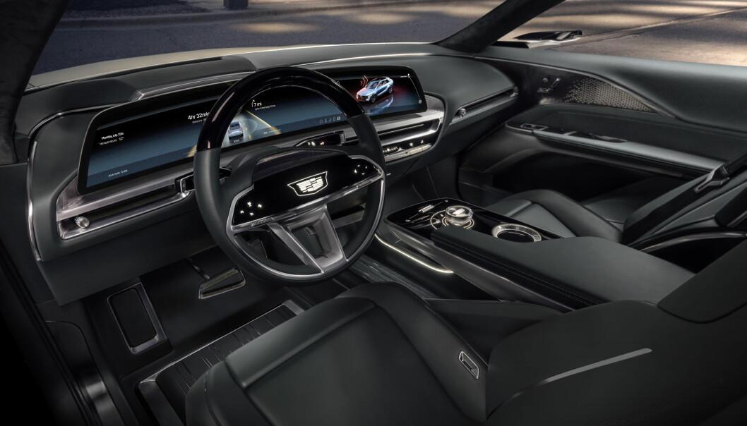 DEL AV STORSATSING: GM har annonsert storsatsing på elbiler - en viktig modell blir Cadillacs luksusbil, Lyriq.