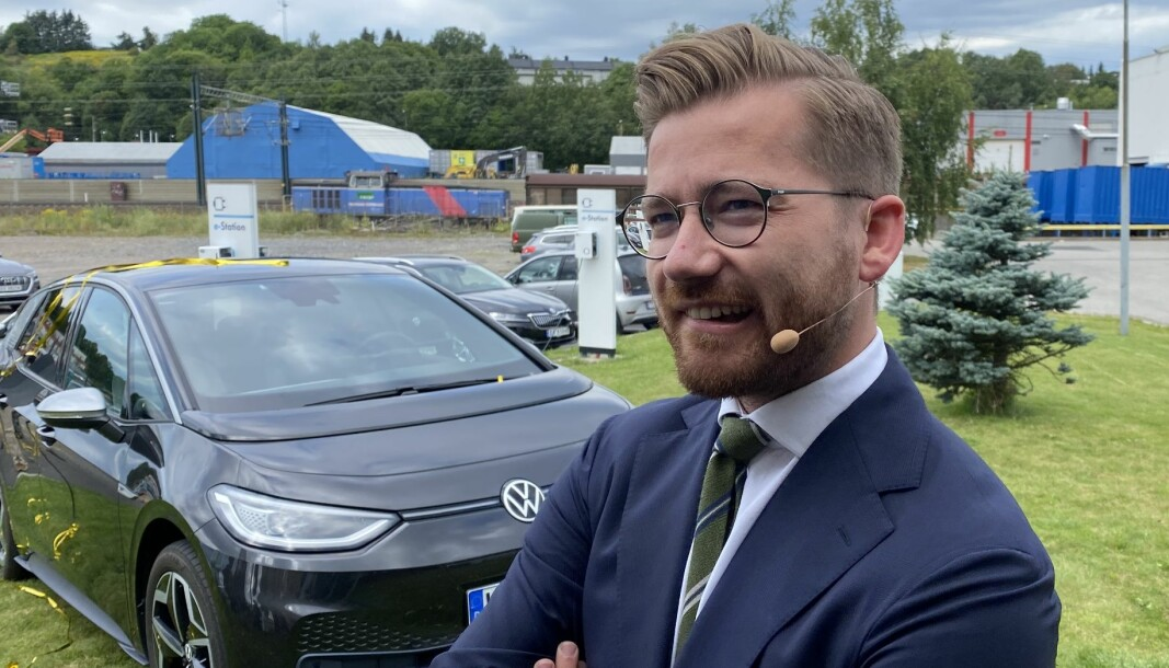 GLAD FOR EU-MÅL: Klima- og miljøminister Sveinung Rotevatn.