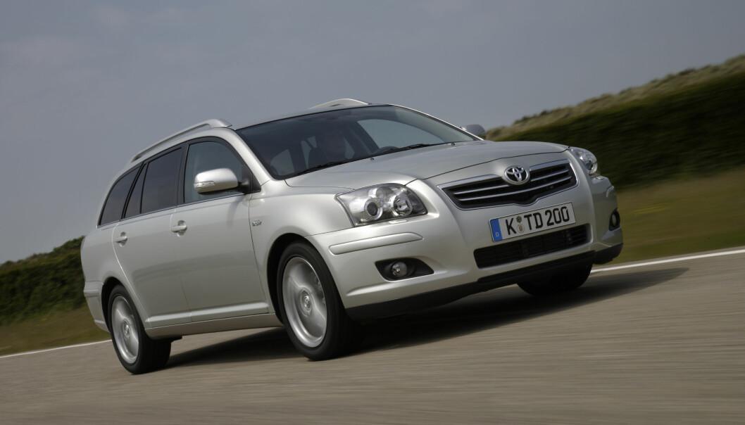 <b>SISTE REIS:</b> Toyota Avensis var en suksess i Norge i mange år, spesielt med dette karosseriet.