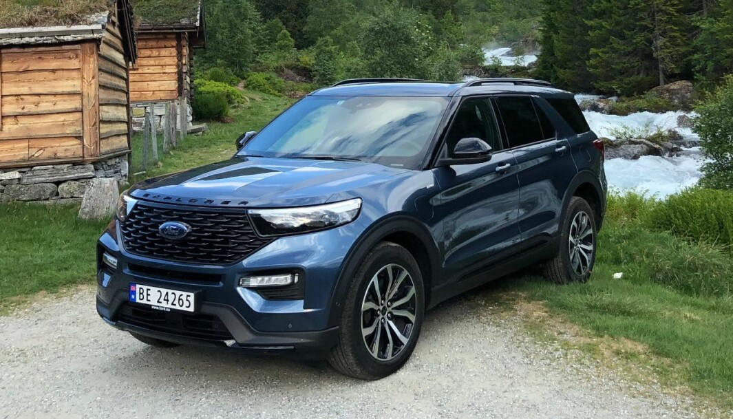NORGESVENNLIG: Som ladehybrid gir store Ford Explorer mye for pengene i Norge.