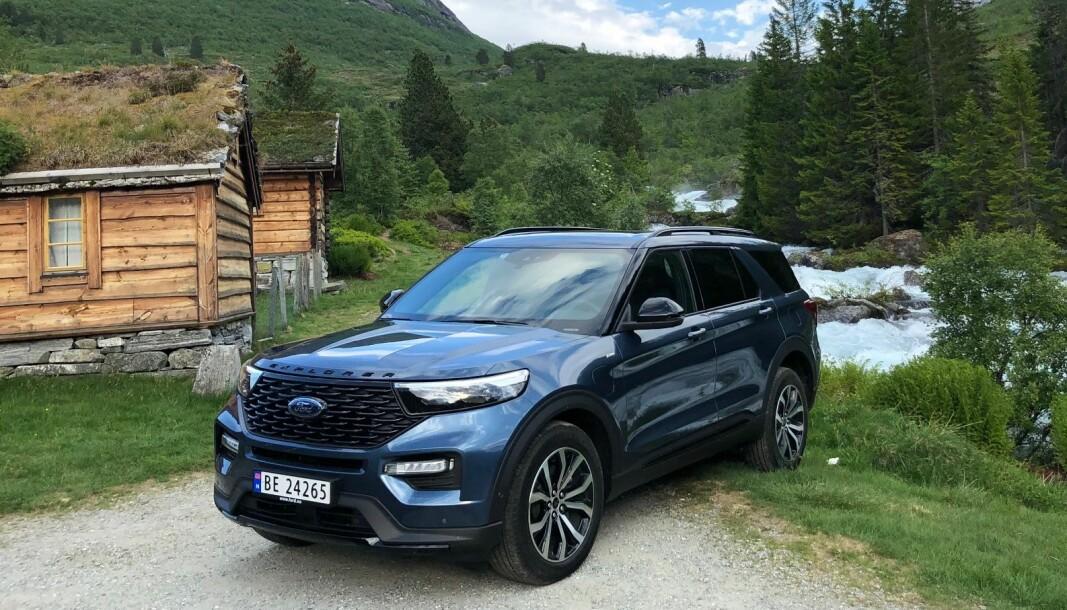 <b>NORGESVENNLIG: </b>Som ladehybrid gir store Ford Explorer mye for pengene i Norge.