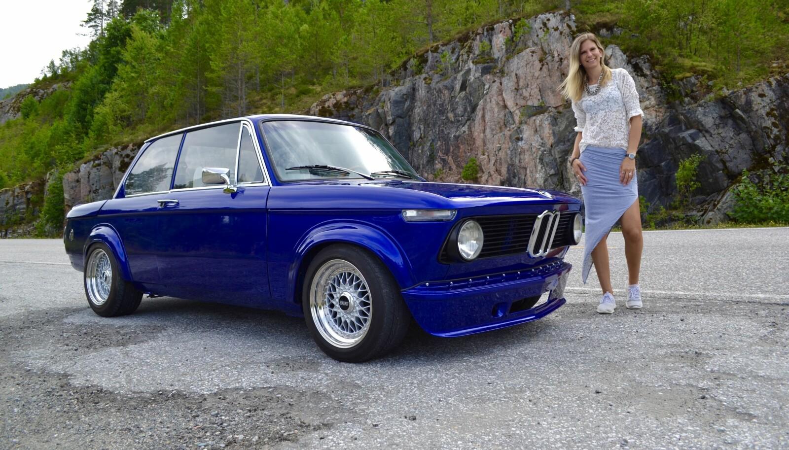 <b>TRE GODE TING:</b> Haifronten, kjøreglede og kvalitet er stikkordene som gjorde Randi Sundset til en svoren BMW-fan.