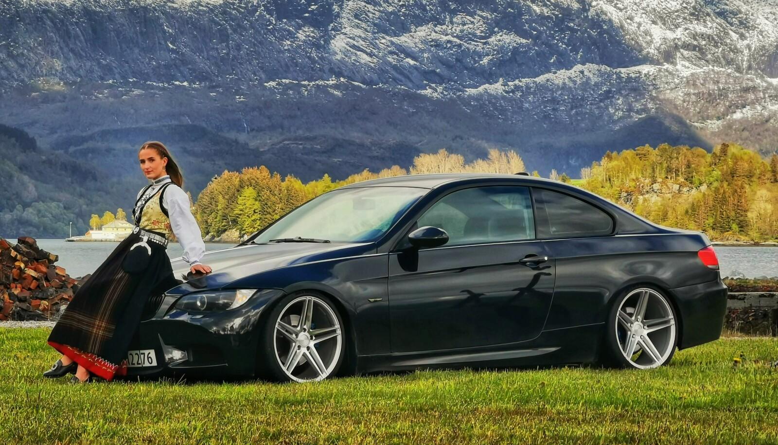 HEIMEBANE: Unge bilentusiaster skal tenke «Fy flate så tøffe biler BMW er!», er målet til Silje Atterås.