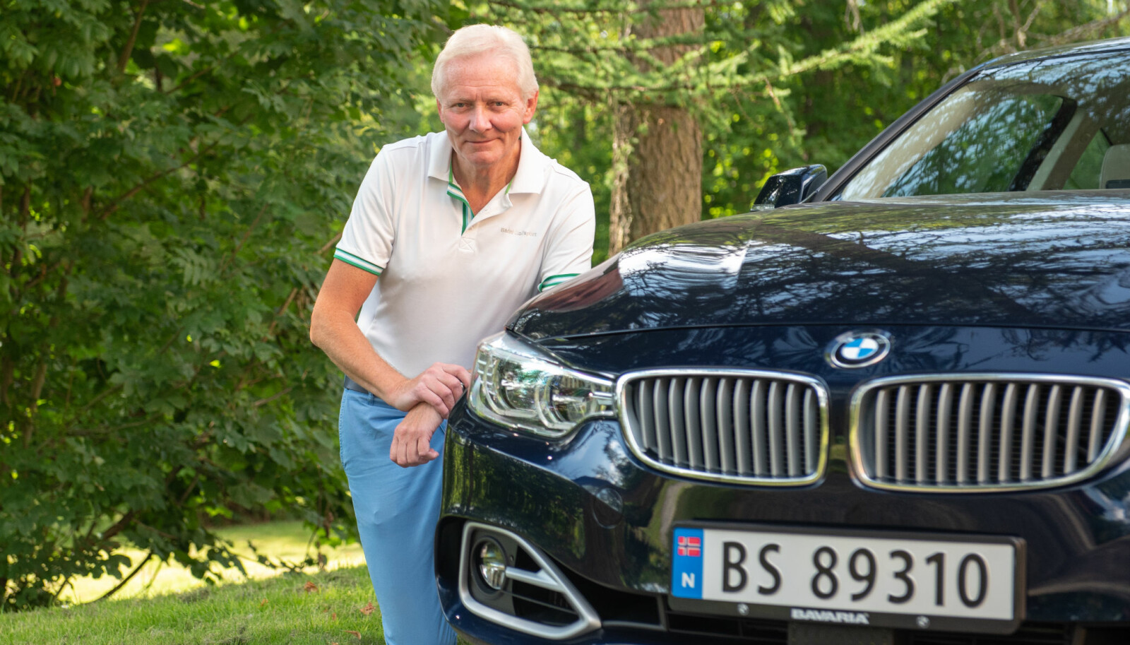 IHUGA ENTUSIAST: Stein Pauli Nilsen kjøpte sin første BMW i 1981, en 318i. Nå har han fire. Pluss en BMW Alpina.